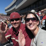 We drove down to Florida in October for the FSU/Boston College game. My brother actually won tickets on a radio show. We stayed with my good friend Matt and met his sweet then-girlfriend-now-fiancee Rachel.